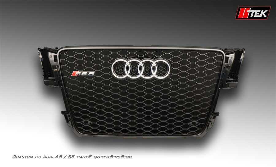 Grille for Audi A5 S5 B8 pre-facelift | Quantum RS aftermarket styling | 2007 - 2012