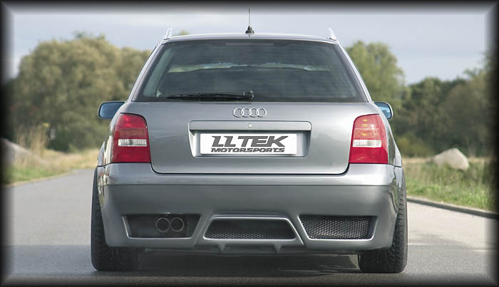 Rieger RS full rear bumper styling for the Audi A4 B5 - Avantshown.