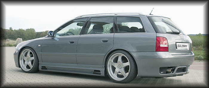 "Rieger RS full rear bumper tuning for the Audi A4 B5 - Shown with ""no vents"""