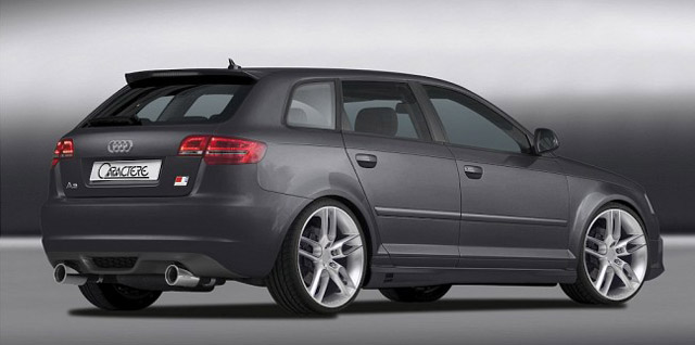 body kit styling audi a3 8p sportback 2008 2009 2010 caractere. Black Bedroom Furniture Sets. Home Design Ideas