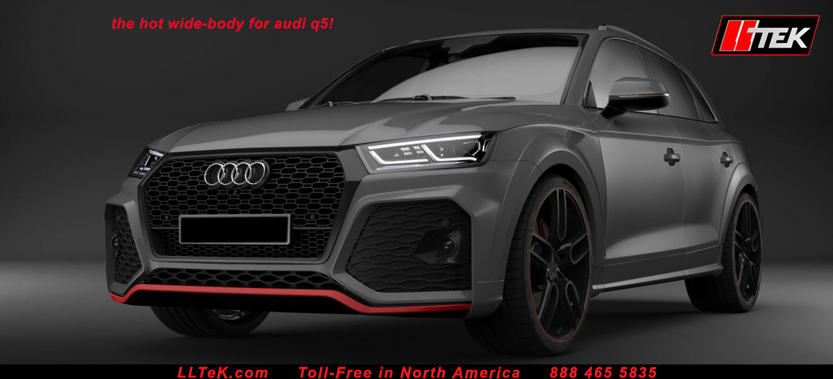 Wide body kit styling for 2nd generation Audi Q5 direct from