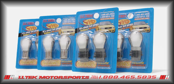 S-Yo turn signal bulbs create the European clear corner look but flash yellow/orange