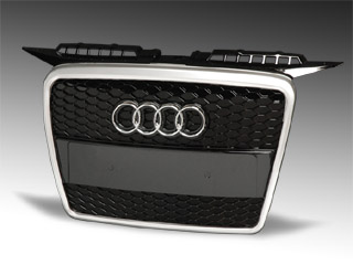 image - quantum silver frame grille for the Audi A3 8P 05-08