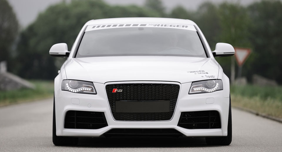 Audi A4 B8 Sedan 2009 And On Body Kit Styling Rieger on 2009 gmc grill