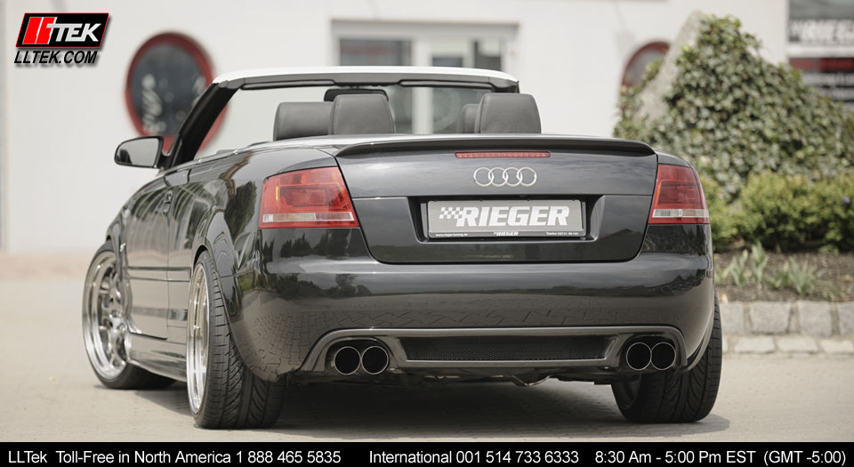 Audi A4 Cabriolet 2003 2006 Rieger Bodykit Trunk Spoiler Image 5