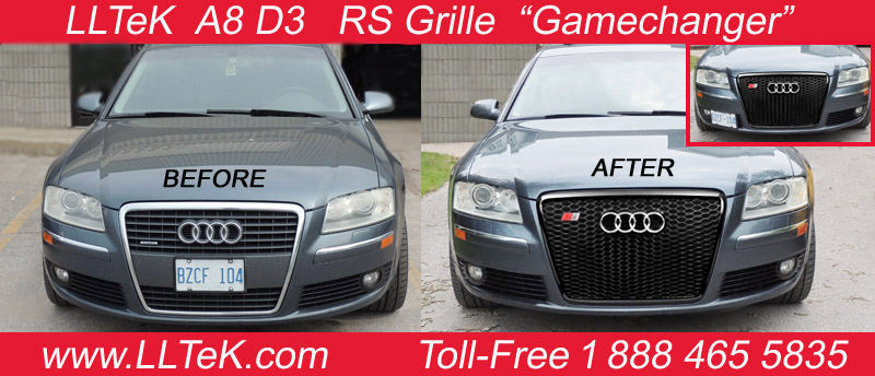 rs grille - before & after